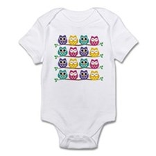 Cute Colorful Owls Body Suit