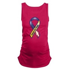 Support Our Troops - Ribbon Maternity Tank Top