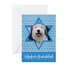 Hanukkah Star of David - Sheepdog Greeting Cards (