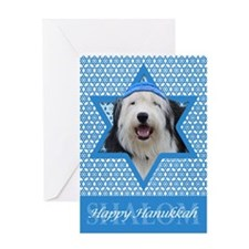 Hanukkah Star of David - Sheepdog Greeting Card