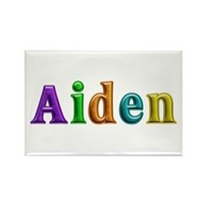Aiden Shiny Colors Rectangle Magnet