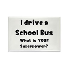 school bus Rectangle Magnet