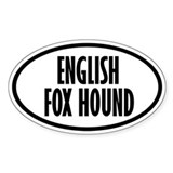 English Fox Hound Oval Decal