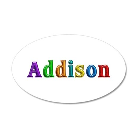 Addison Shiny Colors 35x21 Oval Wall Decal