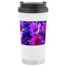 Pink & Purple Flowers Ceramic Travel Mug
