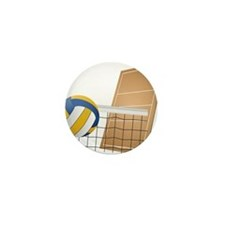 Volleyball - Sports Mini Button (100 pack)