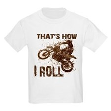 Motorcycle, that's how I roll. Kids T-Shirt