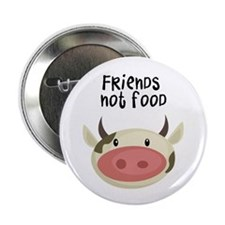 "friends not food 2.25"" Button (100 pack)"