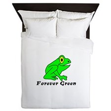 The Eco-Frog Forever Green Queen Duvet