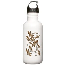 Golden Dragonfly Frenzy Sports Water Bottle