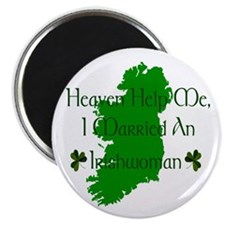 "I Married An Irishwoman 2.25"" Magnets (10 pack)"