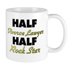Half Divorce Lawyer Half Rock Star Mugs