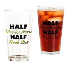 Half District Nurse Half Rock Star Drinking Glass