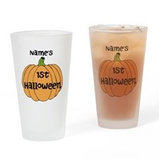 Custom 1st Halloween Drinking Glass