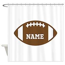 Custom Football Shower Curtain