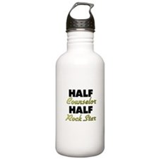 Half Counselor Half Rock Star Water Bottle