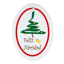 Spanish Christmas Oval Ornament