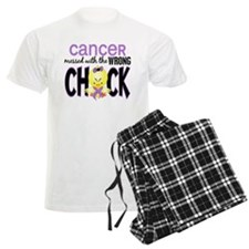 Cancer Messed With Wrong Chick Pajamas