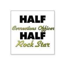 Half Corrections Officer Half Rock Star Sticker