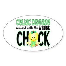 Celiac Disease Messed With Wrong Chick Decal