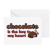 Chocolate Is The Key Greeting Cards (Pk of 10)