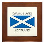 Cambuslang Scotland Framed Tile