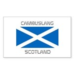 Cambuslang Scotland Sticker (Rectangle)