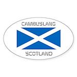 Cambuslang Scotland Sticker (Oval 50 pk)