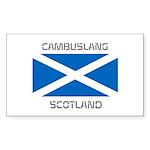 Cambuslang Scotland Sticker (Rectangle 10 pk)