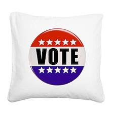 Vote Button Square Canvas Pillow