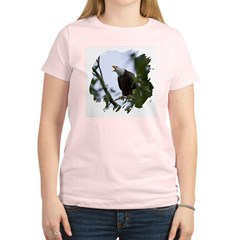 Bald Eagle Women's Pink T-Shirt