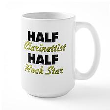Half Clarinettist Half Rock Star Mugs