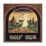 ST. ANDREW'S GOLF CLUB 1 Tile Coaster