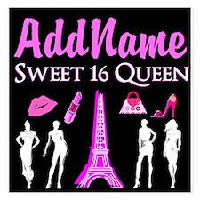 PARIS SWEET 16 Invitations