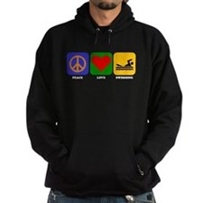 Peace Love Swimming Hoody