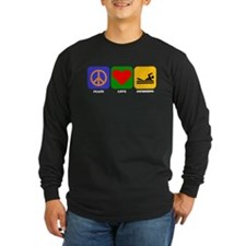 Peace Love Swimming Long Sleeve T-Shirt
