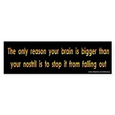 Brains and Nostrils Bumper Bumper Sticker