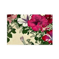 Vintage Pink Floral Design Rectangle Magnet