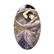 John Waterhouse painting - Boreas, Oval Car Magnet