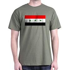 Iraq Iraqi Blank Flag Green T-Shirt
