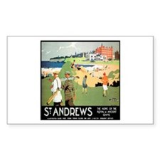 ST. ANDREW'S GOLF CLUB 2 Rectangle Decal