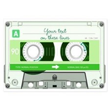 Cassette Tape - Green Invitations
