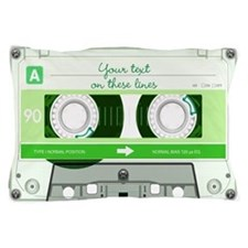 Cassette Tape - Green Pillow Case