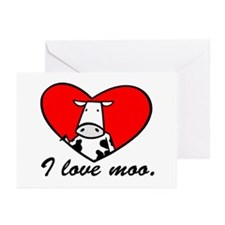 I Love Moo Greeting Cards (Pk of 10)