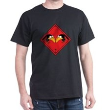 funny crow crossing sign graphic T-Shirt
