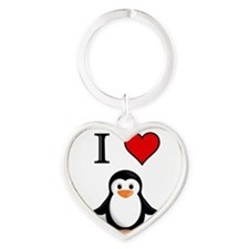 PENGUIN Heart Keychain