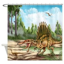 Dinosaur Species Shower Curtain