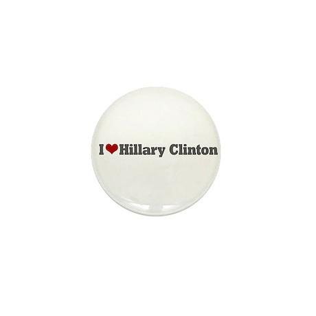 I Love Hillary Clinton Mini Button