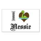 I [HEART] NESSIE Rectangle Decal