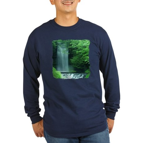 Waterfalls Long Sleeve Dark T-Shirt